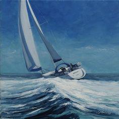 Whitewave  by Scottish contemporary landscape painter J Mackintosh