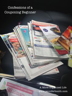 Confessions of a couponing beginner. Tips for those just beginning to use coupons.