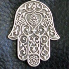 Hamsa, Chamsa, Hand of Miriam, Hand of Fatima Pewter Art, Pewter Metal, Beaded Beads, Hamsa Art, Hamsa Design, Moroccan Jewelry, Hamsa Tattoo, Turkish Art, Hand Of Fatima