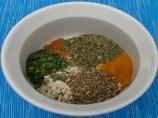 Mrs. Dash Seasoning:  1/2 tsp cayenne, 1T garlic powder, 1t basil, 1t marjoram, 1t thyme, 1t parsley, 1t savory, 1t mace, 1t onion powder, 1t sage, 1t black pepper
