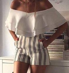 60 Trending And High Casual Summer Outfits Of Fashionista : Maria Turiel Cozy Winter Outfits, Casual Summer Outfits, Mode Outfits, Fashion Outfits, Fashion 2018, Mode Shorts, Schneider, Mode Style, Look Fashion