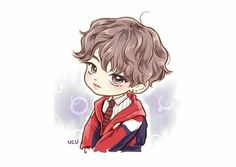 """This Drawing is from BTS """"DNA MV"""" I Hope you like this drawing! More Chibi Pictures coming soon! Bts Chibi, Anime Chibi, Jungkook Fanart, Fanart Bts, Kpop Drawings, Dibujos Cute, Fan Art, Billboard Music Awards, Bts Fans"""