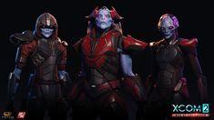 ArtStation - Xcom War of the Chosen - Chosen heads, Matthew Kean Alien Concept, Concept Art, Mass Effect Characters, Beyond Good And Evil, Games Images, Alien Creatures, Starcraft, Character Design References, Sci Fi Art