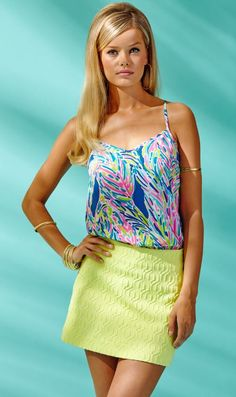 Lilly Pulitzer Tate Skirt in Limoncello Retro Knit Jacquard