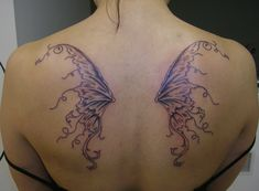 Fairy Wings Gothic Tattoo Designs for Women ~A. Fairy Wing Tattoos, Wing Tattoos On Back, Back Tattoo Women, Tattoo Wings, Wing Tattoo Designs, Tattoo Designs For Women, Tattoos For Women, Gotik Tattoo, Fairy Wings Drawing