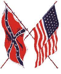 Union/Confederate flags