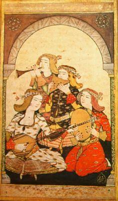 OĞUZ TOPOĞLU : levni eğlenen kadınlar minyatürü 18. yüzyıl