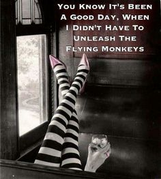 beware of the flying monkeys!