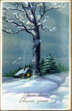 1930's New Year Postcard