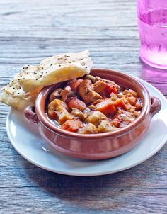 Güveç is a Turkish oven-baked meat and vegetable stew similar to ratatouille.