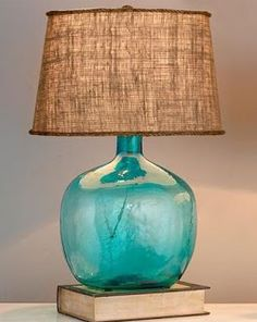 Salt Marsh Cottage: Coastal Lamp DIY love this for entry way table