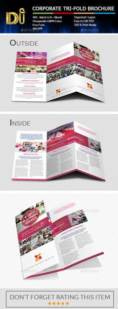 Corporate Trifold Brochure Template #design Download: http://graphicriver.net/item/corporate-trifold-brochure/11695906?ref=ksioks