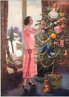 Fashion Ilustration Vintage Christmas Scenes 39 New Ideas Christmas Scenes, Noel Christmas, Victorian Christmas, Retro Christmas, Christmas Greetings, All Things Christmas, Xmas, Christmas Ornaments, English Christmas