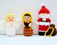 Image result for knit christmas angels
