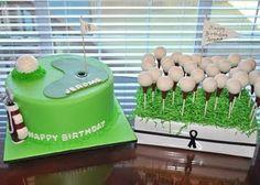 Cake balls as golf balls! Or mini donuts