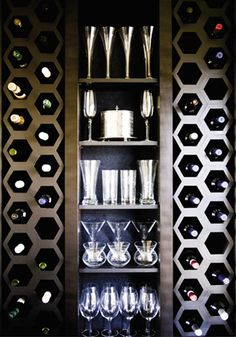 Hexagon-shaped #wine #cellar