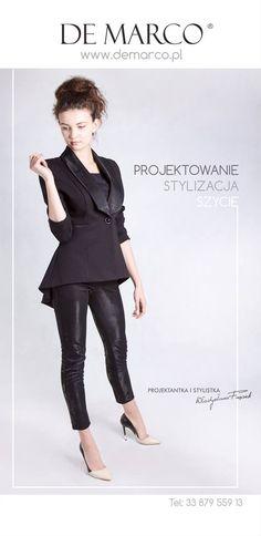 Projektowanie i szycie na miarę ekskluzywnej odzieży damskiej.