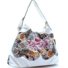 @Overstock - This chic floral and leopard print hobo by Dasein features sturdy, faux leather scaled construction. This bag?s eye-catching design is accented by solid white details and a spacious interior.   http://www.overstock.com/Clothing-Shoes/Dasein-Floral-Print-Hobo-Bag/6504813/product.html?CID=214117 $32.99
