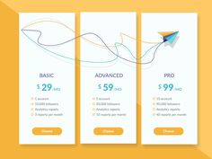 25 Creative Pricing Table Designs for Inspiration - UI Design Board Chart Design, App Design, Design Ideas, Website Design Pricing, Web Design Quotes, Pricing Table, Affinity Designer, Website Design Inspiration, Ui Inspiration