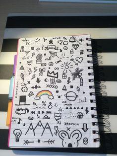 ♥ ️♥ ️♥ notebook doodles в 2019 г. art sketches, art drawings и doodle art. Tumblr Drawings, Small Drawings, Kawaii Drawings, Doodle Drawings, Easy Drawings, Notebook Drawing, Notebook Doodles, Doodle Art Journals, Doodle Pages