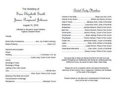 Free Diy  Wedding Program Template Eventfuldelights  Wedding
