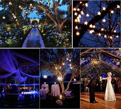 Starry Night Theme Wedding Inspirations Galaxy Moon Star