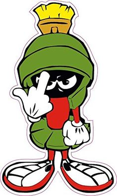 "Amazon.com: Marvin the Martian F you Small Decal 3"" Free Shipping from the United States: Automotive"
