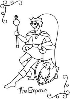 Tarot - The Emperor UTH2430 The Emperor card represents the drive to be bold, take charge, and become patriarch of all you survey.