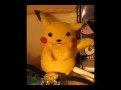 youtube tute to make a felt Pikachu...better not let my son see this..lol