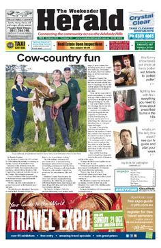 #adelhills #adelaidehills New edition of the Weekender Herald online now. Have a read! Share with others!  http://adelaidehills.realviewtechnologies.com/