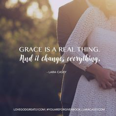 Grace is a real thing. And it changes everything. #YouAreForgiven Bible Study…