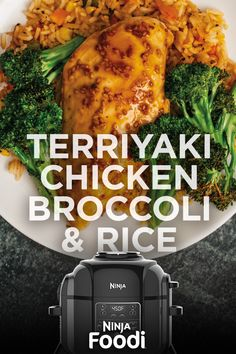 Ninja Foodi – Teriyaki Chicken, Broccoli & Rice When you're time-starved and starving on a weeknight, turn to this well-balanced 360 meal. Try this juicy and crispy chicken in the Broccoli Recipes, Chicken Recipes, Chicken Broccoli, Broccoli Rice, Cooking Recipes, Healthy Recipes, Crockpot Recipes, Juice Recipes, Recipes