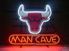 Man Cave Chicago Bulls Neon Sign NBA Teams Neon Light