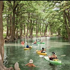 Aww...Home...  1. Kayak the Medina River Winding through tunnels of towering bald cypress trees on its way to Bandera, the Medina River doesn't get the crowds that flock to the Guadalupe River. So you have most of it to yourself as you spend a couple of hours of bliss in a kayak rented from the Medina River Company, 830/796-3600.  Southernliving.com