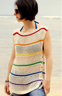 Beverly Beach Shirt, de Kate Bostwick. http://www.ravelry.com/patterns/library/beverly-beach-shirt