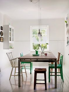 Selina Lake: dining room mix of chairs