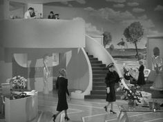"On the set of ""The Women"" (1939) here we see the beautiful art direction Cedric Gibbons"
