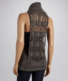 """Sleeveless Cowl Neck Sweater freaked me out for a second, I thought """"where's the head"""" then realized out was a mannequin"""