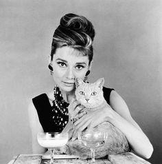 Io e il mio gatto. Audrey Hepburn
