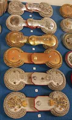 Gold epaulettes of the Russian army