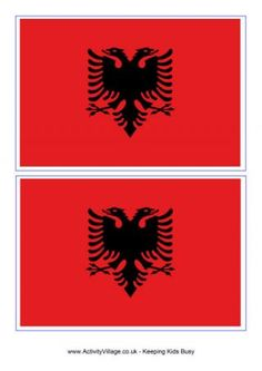 Albanian eagle png eagle pinterest tattoo for Albanian flag coloring page