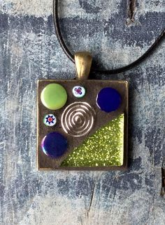 Spiral Mosaic Pendant by MosaicsandGemstones on Etsy https://www.etsy.com/nz/listing/568109069/spiral-mosaic-pendant