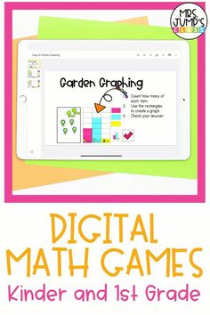 Looking for some fun, interactive math games that you can use during your first grade or kindergarten math centers? With these digital math games, students can practice skills like addition, counting, and more!