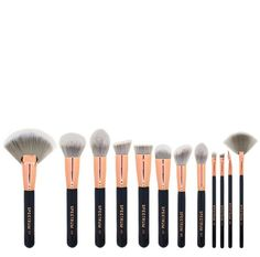 Our beautiful black marble inspired make-up brush set is sassy