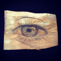 EYE Pensil on wood 20 x 25 cm, 2014