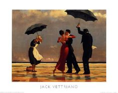 "The Look Of Love Small Mounted Print 8/"" x 6/"" Jack Vettriano Rare"