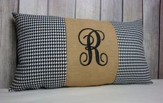 Hey, I found this really awesome Etsy listing at https://www.etsy.com/listing/218594037/houndstooth-pillow-monogrammed