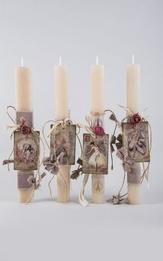Shabby Chic Candle, Candle Art, Candle Making, Easter Crafts, Holidays And Events, Seasonal Decor, Happy Easter, Pillar Candles, Decoupage