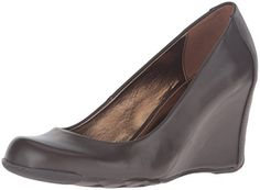 Kenneth Cole REACTION Women's Did U Tell Wedge Pump, Coco-$51.33