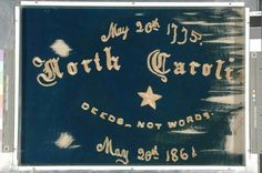 """Side A:  6th Regiment NC Troops Flag made by Christine Fisher #cw150  Regimental Flag of the Sixth Regiment North Carolina State Troops (1915.4.5)    This ornate two-sided flag of the Sixth Regiment North Carolina State Troops was made by Christine Fisher from her silk shawl. She presented it to the Sixth Regiment North Carolina State Troops commanded by her brother Colonel Charles Fisher who was later killed on July 21, 1861 at the Battle of First Manassas. It is documented that the flag was carried not only at Manassas but also at Gettysburg in July 1863. The flag was carried by veterans from the regiment on May 20, 1894 during the laying of the cornerstone of the Confederate Monument on the grounds of the North Carolina state capitol building. At some point the flag was returned to the Fisher family and in 1915 Colonel Fisher's daughter, Frances Christine Fisher Tiernan presented it to the Hall of History. Tiernan had become an accomplished writer after the war using the pen name of """"Christian Reid."""""""